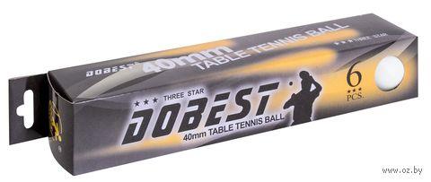 "Мячи для настольного тенниса ""ВА02"" (6 шт.; 3 звезды) — фото, картинка"