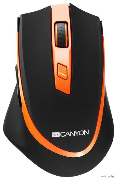 Мышь беспроводная Canyon CNS-CMSW13BO (черно-оранжевая) — фото, картинка