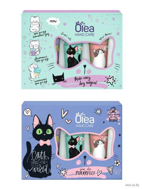"""Подарочный набор """"Olea. Hand Care Cats"""" (3 крема) — фото, картинка"""