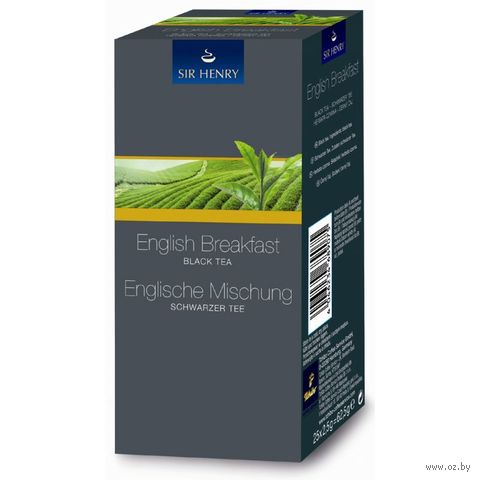 """Чай черный """"Sir Henry. Tea Selection. English Breakfast"""" (25 пакетиков) — фото, картинка"""
