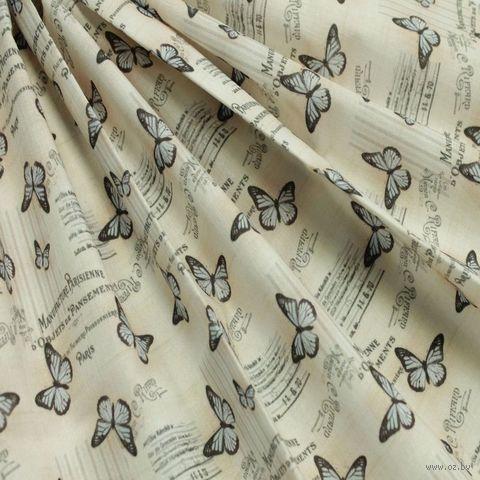 "Ткань ""Винтажные бабочки"" (48х50 см; арт. AM625005) — фото, картинка"