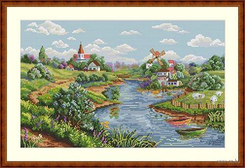"""Вышивка крестом """"Весенний пейзаж"""" (200х330 мм) — фото, картинка"""