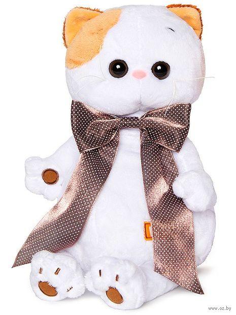 """Мягкая игрушка """"Кошечка Ли-Ли с с атласным коричневым бантом"""" (24 см) — фото, картинка"""