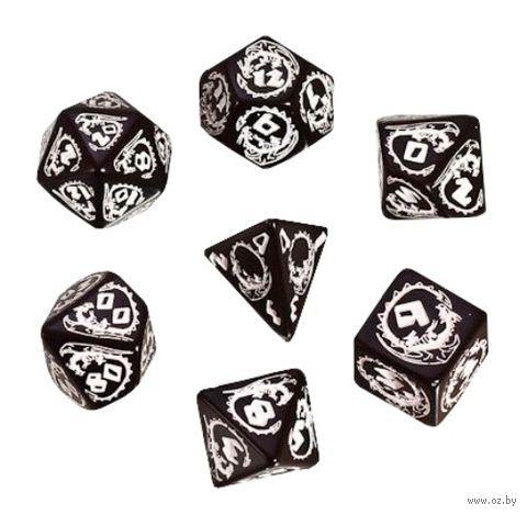 """Набор кубиков """"Дракон"""" (7 шт.; черно-белый) — фото, картинка"""