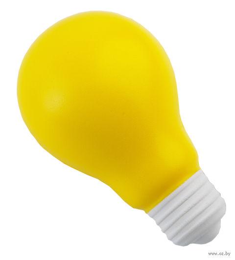 Антистресс-лампочка (желтая) — фото, картинка