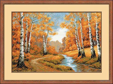 "Вышивка крестом ""Золотая роща"" (600х400 мм) — фото, картинка"