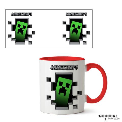 """Кружка """"Minecraft"""" (красная) — фото, картинка"""