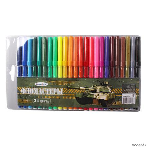 """Фломастеры """"Darvish"""" (24 цвета; арт. DV-1133-24)"""