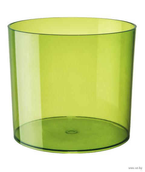 """Цветочный горшок """"Цилиндр"""" (13,5 см; прозрачный зеленый) — фото, картинка"""