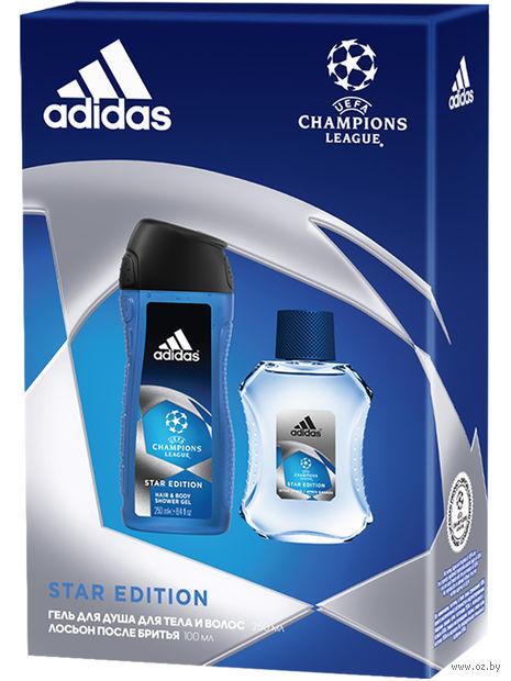 """Подарочный набор """"UEFA Star Edition"""" (гель для душа, лосьон после бритья) — фото, картинка"""