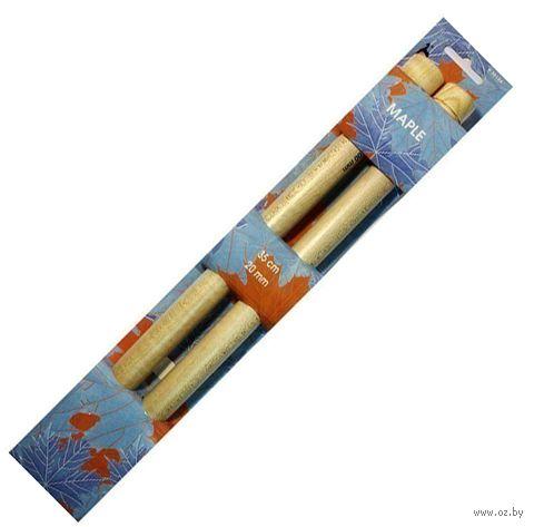 Спицы для вязания (дерево; 20 мм; 35 см) — фото, картинка