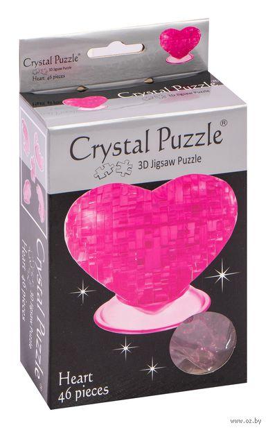 "Пазл-головоломка ""Crystal Puzzle. Розовое сердце"" (46 элементов)"