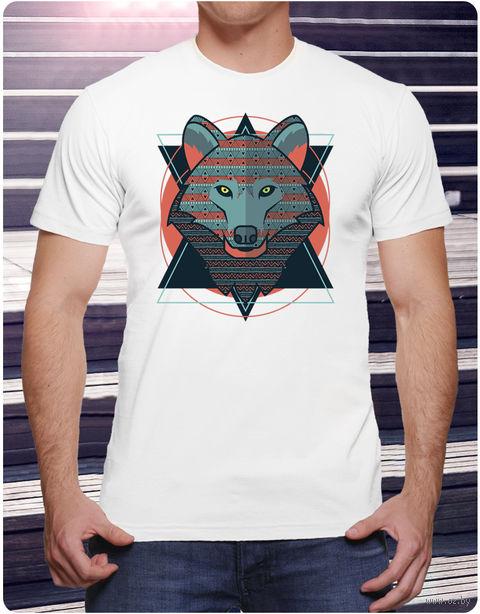 "Футболка мужская ""Волк"" (размер 52; арт. 2) — фото, картинка"