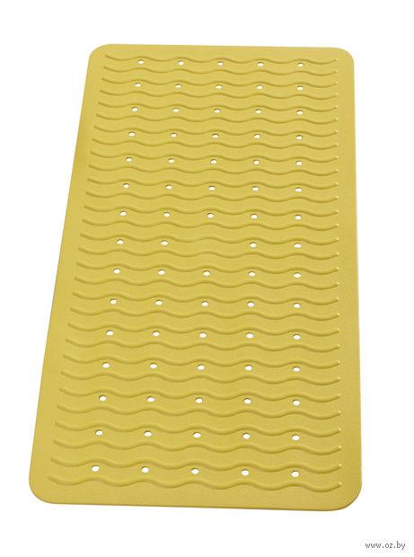 """Коврик для ванной резиновый """"Волна"""" (38х80 см; желтый) — фото, картинка"""