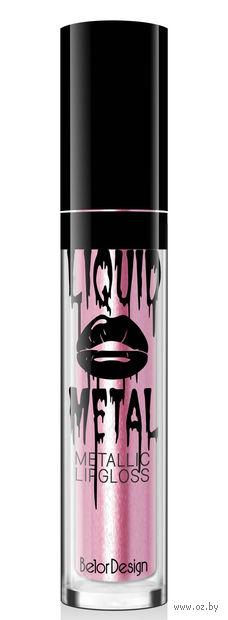 """Блеск для губ """"Liquid Metal"""" (тон: 4, светло-розовый) — фото, картинка"""