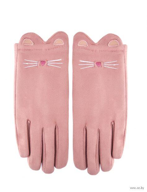 """Перчатки """"Котики"""" (розовые) — фото, картинка"""