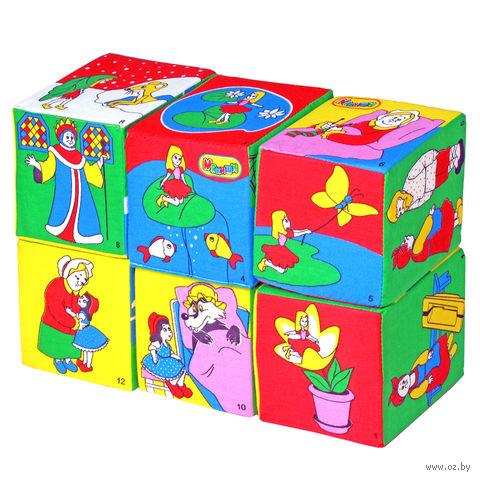 """Кубики мягкие """"Сказки"""" (6 шт)"""