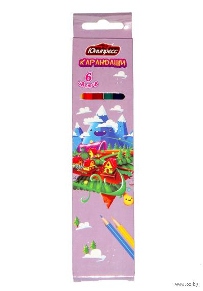 """Цветные карандаши """"Сказка"""" (6 цветов)"""