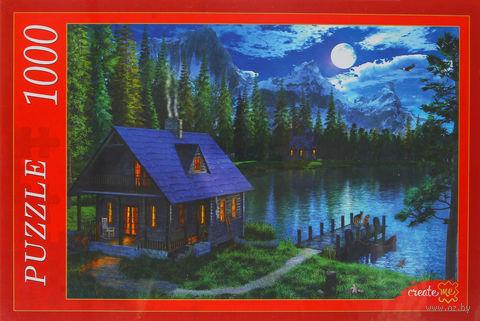 """Пазл """"Озеро в лунном свете"""" (1000 элементов) — фото, картинка"""