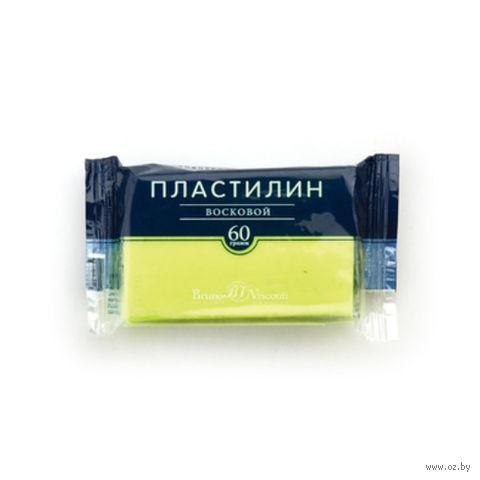 Пластилин восковой (60 г; желтый неоновый) — фото, картинка