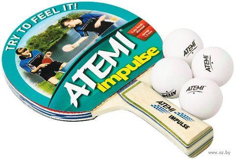 "Набор для настольного тенниса ""Impulse"" (1 ракетка+4 мяча; 1 звезда) — фото, картинка"