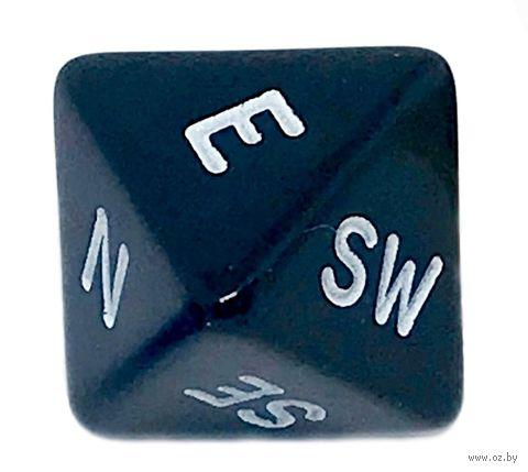 "Кубик D8 ""Компас"" (16 мм; чёрный) — фото, картинка"