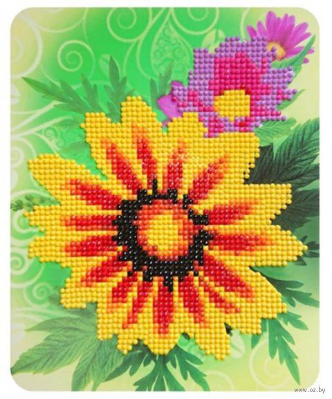 """Алмазная вышивка-мозаика """"Цветочное настроение"""" (170х210 мм) — фото, картинка"""
