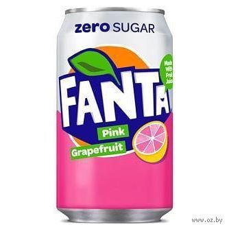 """Напиток газированный """"Fanta. Розовый грейпфрут"""" (330 мл) — фото, картинка"""
