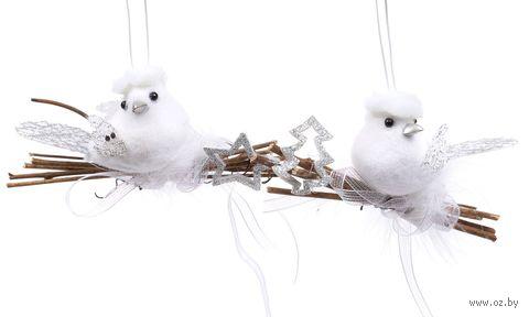 """Ёлочная игрушка """"Птичка"""" (арт. NY1366) — фото, картинка"""