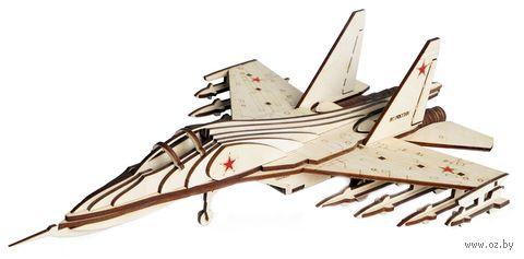 """Сборная деревянная модель """"Истребитель СУ-30"""" — фото, картинка"""
