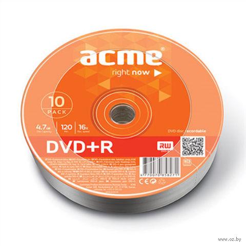 Диск DVD+R 4.7 Gb 16х Acme Bulk 10