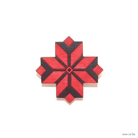 """Значок деревянный """"Белорусский орнамент. Васьмірог"""""""