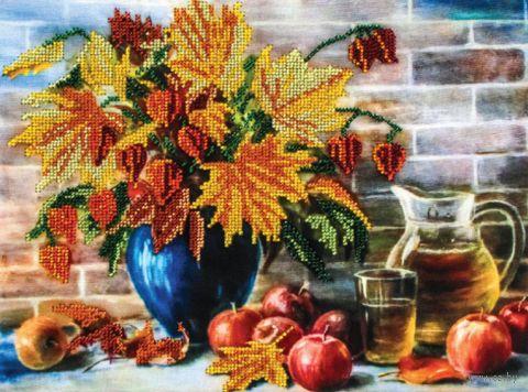 """Вышивка бисером """"Сентябрь"""" (240х300 мм) — фото, картинка"""