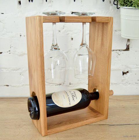 Подставка для бутылки и бокалов (250х350х115 мм) — фото, картинка
