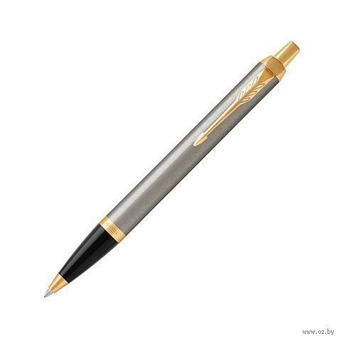 """Ручка шариковая синяя """"I.M. Brushed Metal GT"""" (в ассортименте) — фото, картинка"""
