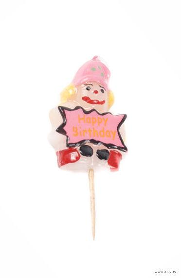 "Свеча для торта ""Клоун"" (5,5 см)"