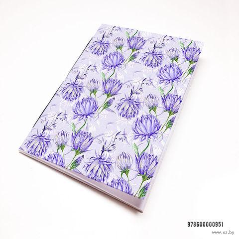 "Блокнот белый ""Цветы"" А7 (951)"
