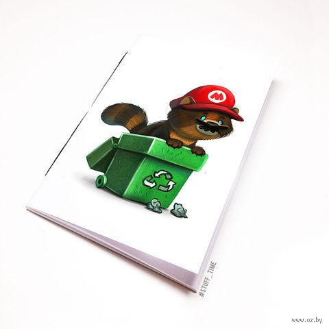 """Блокнот белый """"Марио"""" А6 (958)"""