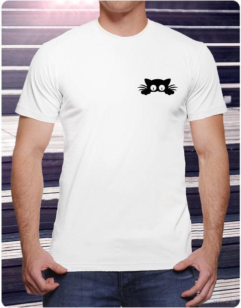 "Футболка мужская ""Кот"" (размер 52; арт. 5) — фото, картинка"