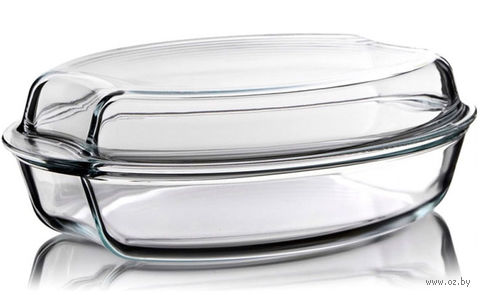 Кастрюля стеклянная овальная (2,5 л; арт. 7536-7546) — фото, картинка