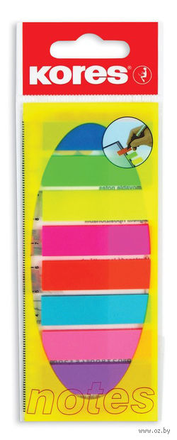 """Набор клейких пластиковых закладок """"Kores"""" (8 цветов)"""