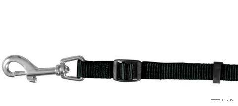 """Поводок регулируемый для собак """"Classic"""" (размер XS, 120-180 см, черный, арт. 14101)"""