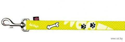 "Поводок для собак ""Modern Art  Woof"" (желтый, размер XXS-XS, 120 см, арт. 15180)"