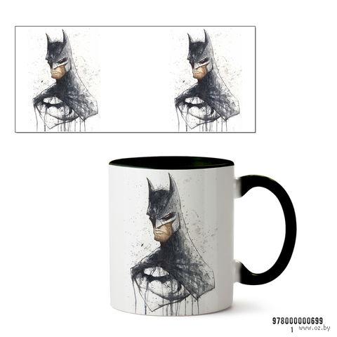 """Кружка """"Бэтмен из вселенной DC"""" (черная; арт. 699) — фото, картинка"""