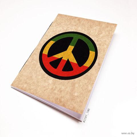 """Блокнот крафт """"Peace"""" (А5; арт. 807) — фото, картинка"""