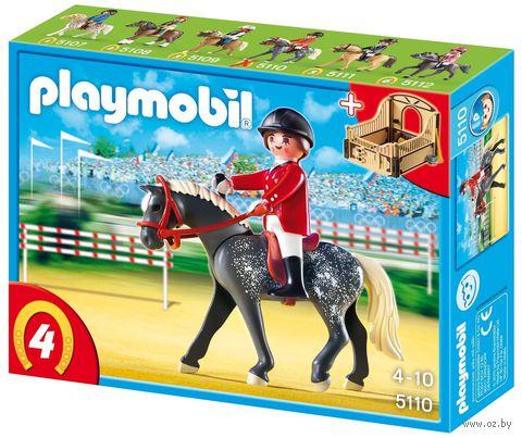 """Игровой набор """"Трекерная лошадь со стойлом"""""""