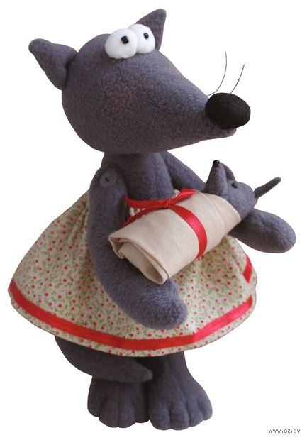 """Набор для шитья из ткани """"Волчица"""" — фото, картинка"""