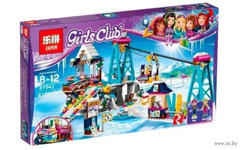 """Конструктор Girls Club """"Горнолыжный курорт. Подъёмник"""" — фото, картинка"""