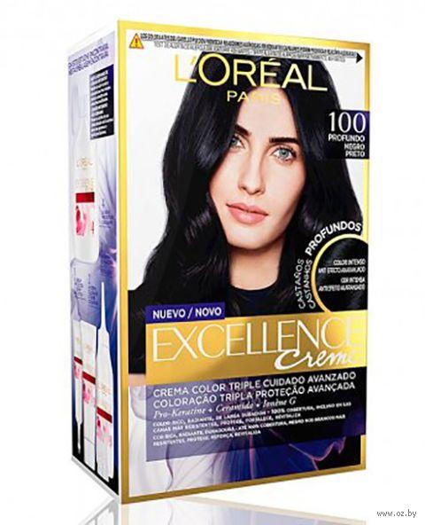 """Крем-краска для волос """"Excellence Creme"""" тон: 100, чёрный — фото, картинка"""