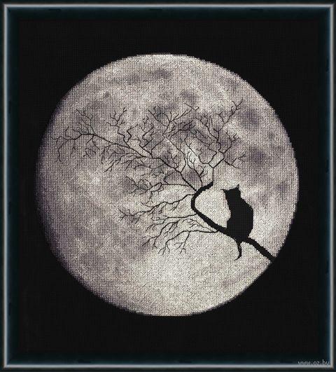 "Вышивка крестом ""Лунная соната"" (270х260 мм) — фото, картинка"